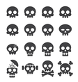 skull icon set vector image vector image
