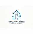smart home creative symbol technology concept vector image vector image