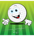 smiling golf ball vector image