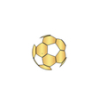 Soccer ball computer symbol vector image vector image