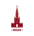 spasskaya tower isolated on white background line vector image