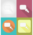 speech bubbles flat icons 01 vector image vector image