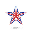 star made crystals with united kingdom flag vector image