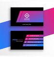 stylish vibrant purple business card template vector image vector image