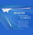 Template with paper plane vector image