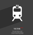 train icon symbol Flat modern web design with long vector image vector image