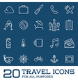 Travel Icons Set Great for All Purposes like Print vector image vector image
