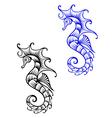 Underwater seahorse vector image