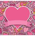 valentine ornament vector image vector image