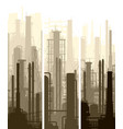 vertical banner industrial part city vector image vector image