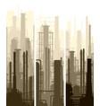 vertical banner industrial part of city vector image