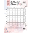 Weekly diet planner printable page for vector image vector image