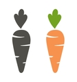 Carrot icon cartoon style isolated on white vector image