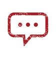 Red grunge talk logo vector image