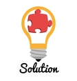 Business solutions with icons vector image