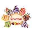 Ice cream different tastes vector image