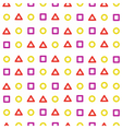 Background circle triangle square vector image