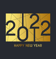 2022 new year concept vector image vector image