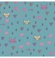 A seamless pattern of cats footprint prints vector image vector image