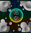 abstract fluid creative templates cards vector image vector image