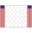 american flag decorative banner poster frame vector image vector image