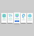 artificial intelligence onboarding vector image vector image