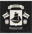 Background on pirate theme with objects and vector image vector image