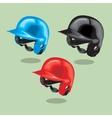 Baseball helmet vector image