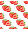 berries strawberry with leaves seamless pattern vector image vector image
