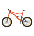 bike mountain downhill orange flat icon bicycle vector image vector image