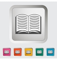 Book Single icon vector image vector image