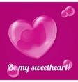 bubble heart vector image vector image