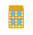 building in old city urban design building icon vector image