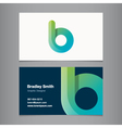 business card letter b vector image vector image