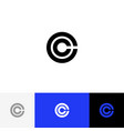 c in circle minimalism logo icon c vector image