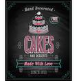 cake chalkboard vector image vector image