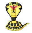 cartoon king cobra snake mascot vector image vector image