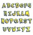 cartoon Lettering Design vector image vector image