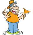 Cartoon sports fan vector image vector image