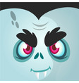 cartoon vampire face vector image