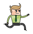 character successful business man cartoon happy vector image