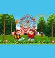 children monkeys amusement park scene vector image vector image