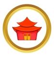 Chinese pagoda icon vector image vector image