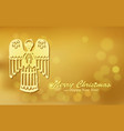 Christmas gold background with Angel vector image