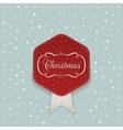 Christmas red Sticker with white Ribbon