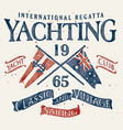 classic and vintage sailing vector image vector image