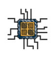 cpu chip icon image vector image