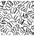 curly waves hand drawn seamless pattern vector image vector image