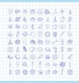 cute cartoon icons on science school study theme vector image vector image