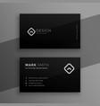 dark black elegant business card template design vector image vector image